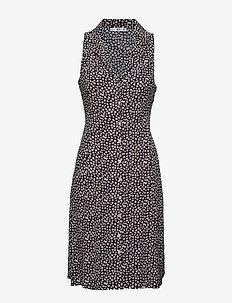 Printed shirt dress - NAVY