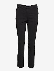 Crop slim-fit trousers - BLACK