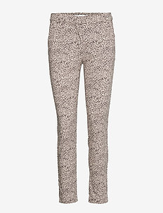 Crop slim-fit trousers - LIGHT BEIGE