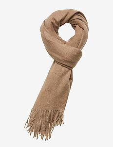 Fringed edge scarf - LT PASTEL BROWN