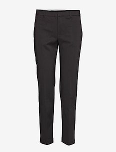 Straight cotton trousers - BLACK