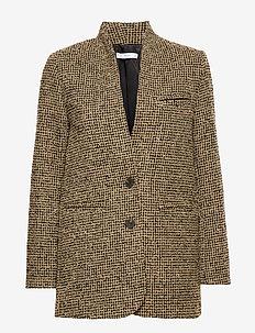 Buttons tweed blazer - DARK YELLOW