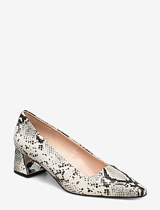 Snakeskin print heeled shoes - GREY