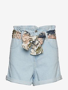Bowed denim short - OPEN BLUE