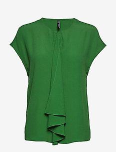 Draped detail blouse - GREEN