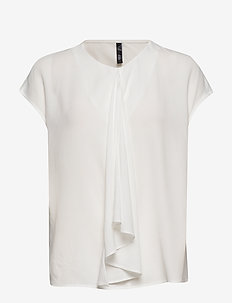 Draped detail blouse - NATURAL WHITE