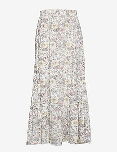 Printed modal skirt - NATURAL WHITE