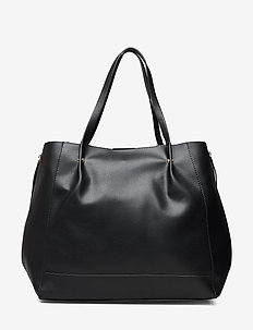 Zip shopper bag - BLACK