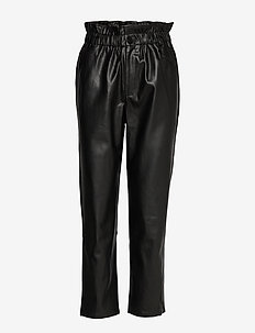 Paper bag trousers - BLACK