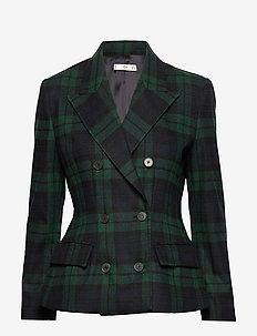Structured wool blazer - GREEN