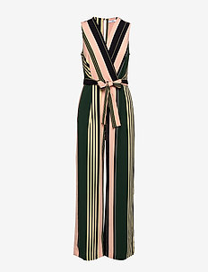 Striped long jumpsuit - PINK