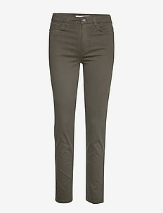 Straight cotton trousers - GREEN