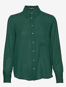 Pocket flowy shirt - GREEN