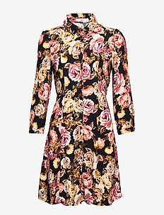 Printed shirt dress - PINK
