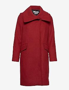Wide lapel coat - RED