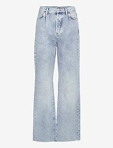 DANIELA - brede jeans - mid denim