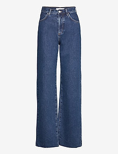 NORA - brede jeans - blue