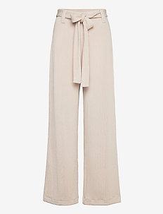 PALAZZO - bukser med brede ben - stone