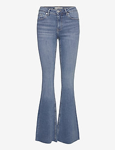 FLARE - utsvängda jeans - dark denim