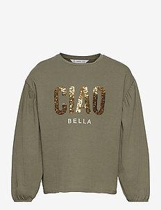 BELLA - langærmede t-shirts - beige/khaki