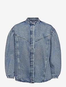 CARAMEL - jeansjackor - mid denim
