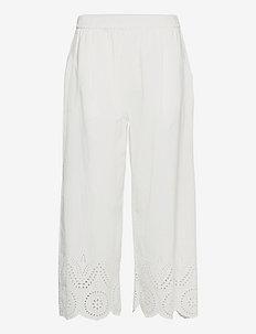 LOLO - bukser med brede ben - white