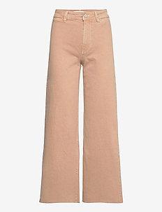 CATHERIN - brede jeans - light beige