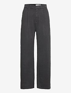 FILIPPO - bukser med lige ben - black