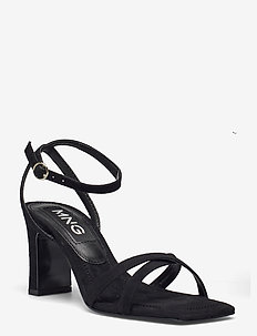 OMG - højhælede sandaler - black