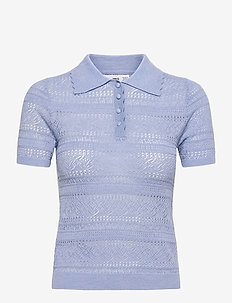 GORDON - strikkede toppe - sky blue