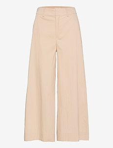CIEL - bukser med brede ben - ecru