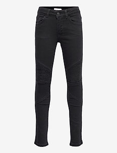 BIKER - jeans - open gray