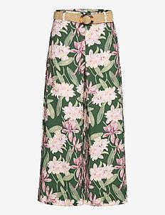 LULA - bukser med brede ben - green