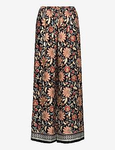 DORI - bukser med brede ben - black