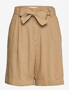 ELLA - paper bag shorts - camel