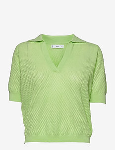 CIRCLE - strikkede toppe - green