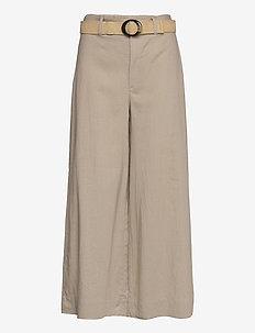 CEL - bukser med brede ben - stone
