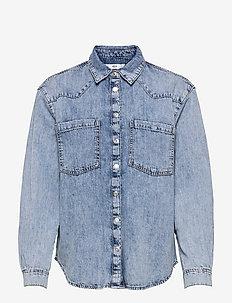 SIRA - jeansjackor - mid denim