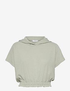 WAFFLE - hættetrøjer - pastel green