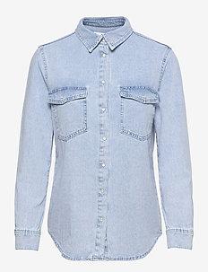 ANGY - langærmede skjorter - open blue
