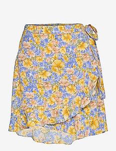 DELFOS - slå-om-nederdele - blue