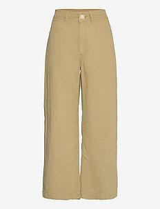 BLAU - bukser med brede ben - khaki