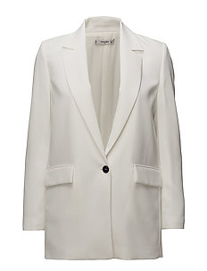 Structured long blazer - NATURAL WHITE