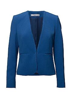 Metallic fastening blazer - BRIGHT BLUE