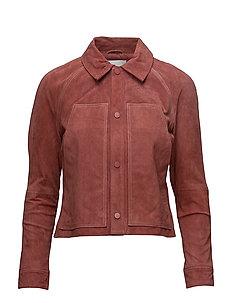 Stich leather jacket - LT-PASTEL PINK