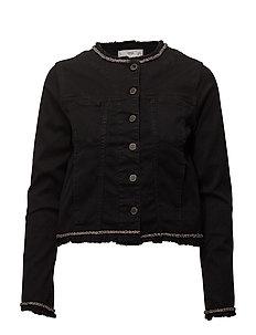 Appliqu denim jacket - OPEN GREY
