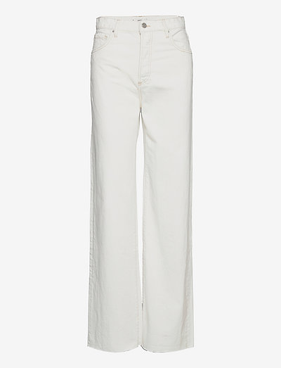 NORA - brede jeans - offwhite