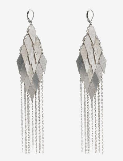 BAKLAVA - statement-øreringe - silver
