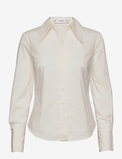 STRECHI-H - langærmede skjorter - white