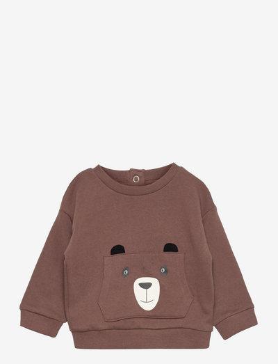 BROWN - sweatshirts - brown